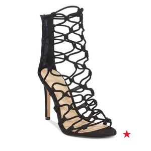 Aldo black strappy heel